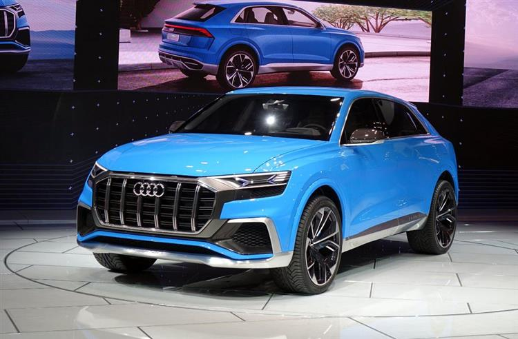 audi q8 coup et hybride rechargeable detroit photos. Black Bedroom Furniture Sets. Home Design Ideas