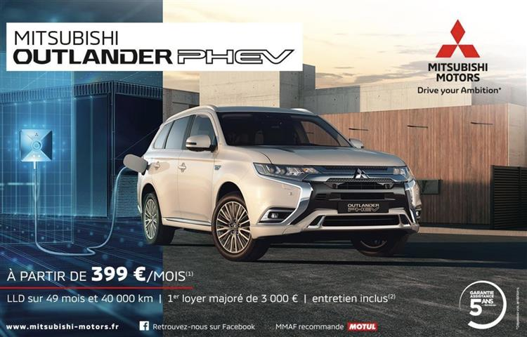 mitsubishi outlander phev lld partir de 399 euros par mois. Black Bedroom Furniture Sets. Home Design Ideas