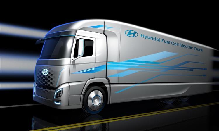 camion hydrog ne un premier mod le hyundai pour l europe d s 2019. Black Bedroom Furniture Sets. Home Design Ideas