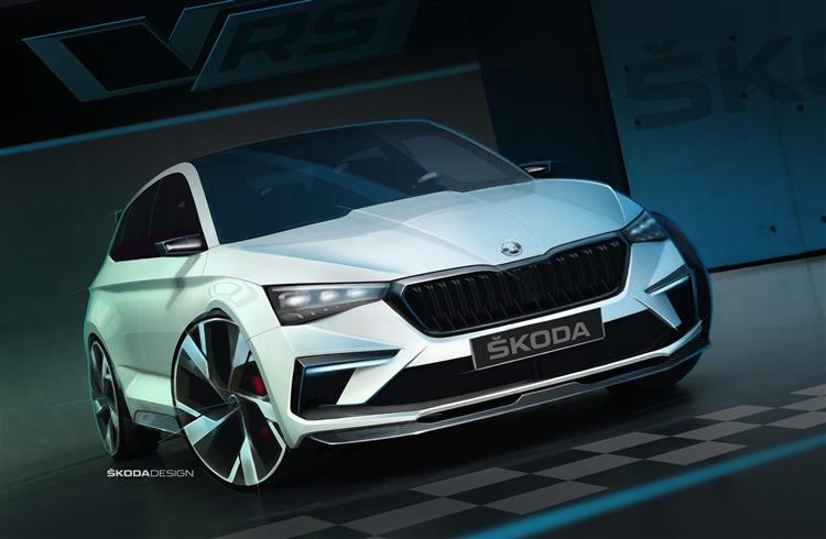 skoda vision rs le concept qui pr cise l hybride rechargeable de volkswagen. Black Bedroom Furniture Sets. Home Design Ideas