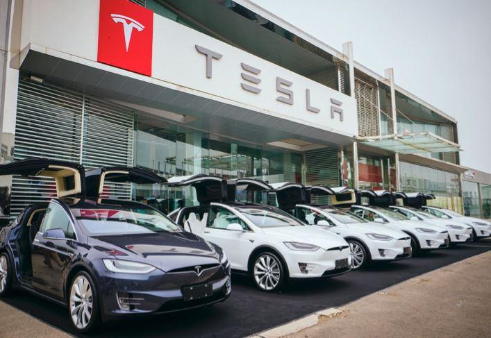 Voitures électriques Tesla en Chine