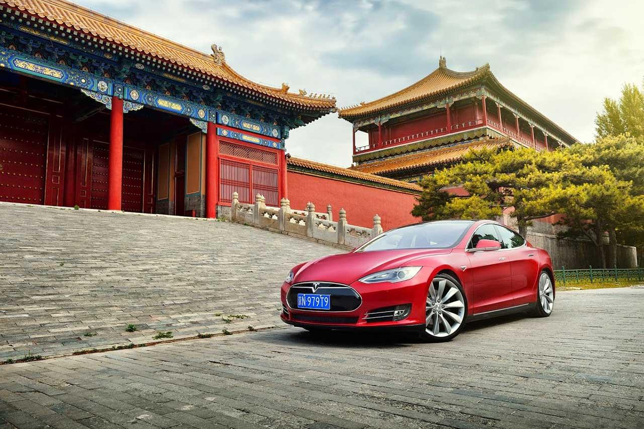 Tesla car shanghai