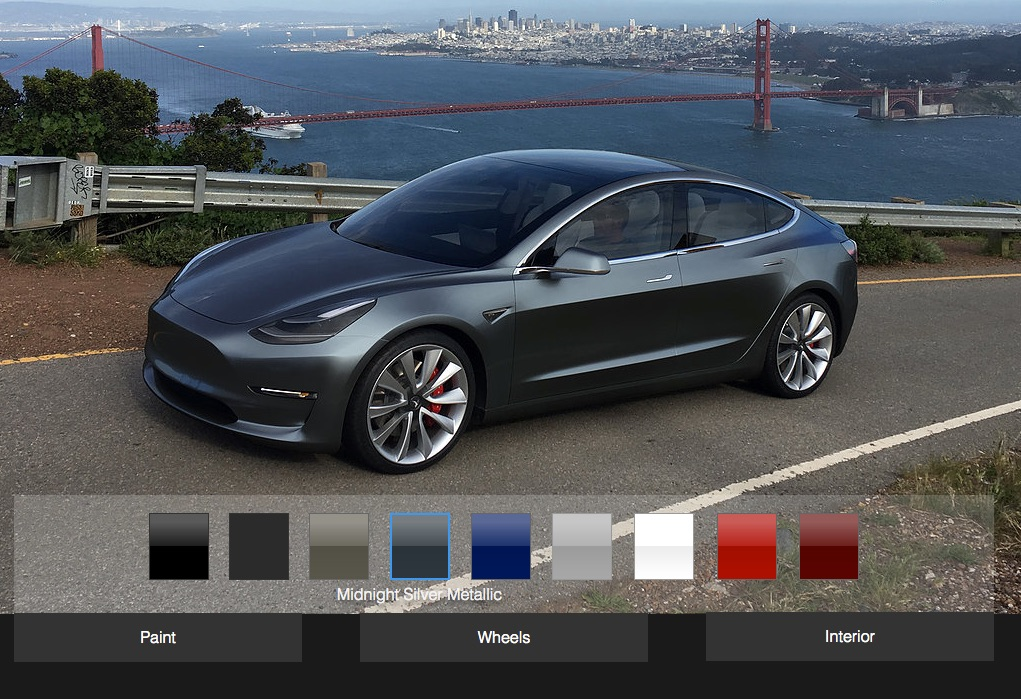 tesla model 3 un premier choix limit aux couleurs et tailles des jantes. Black Bedroom Furniture Sets. Home Design Ideas