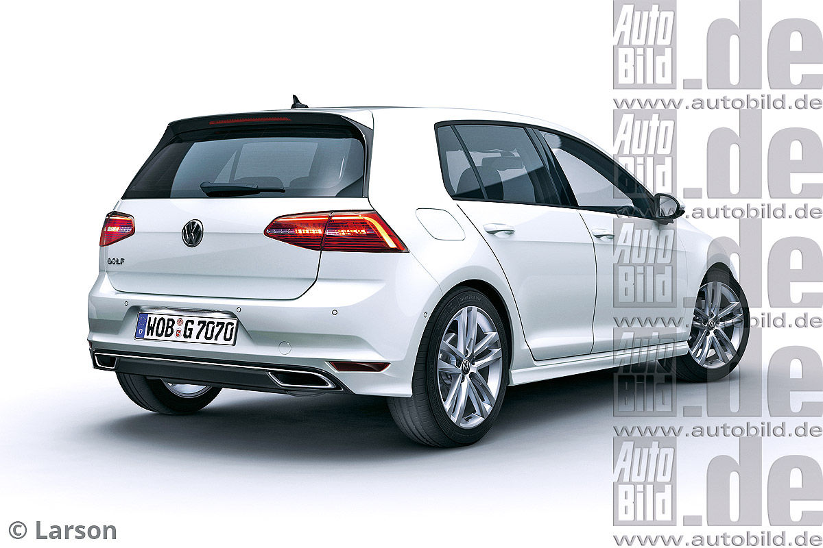 volkswagen golf gte restylage au printemps 2016 photos. Black Bedroom Furniture Sets. Home Design Ideas