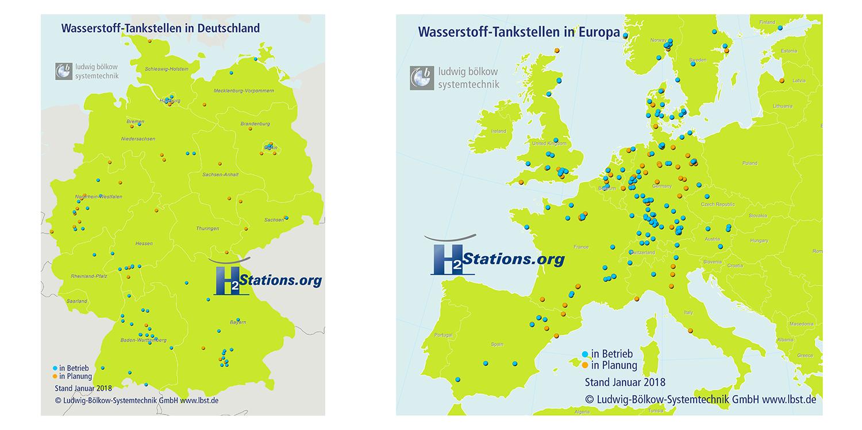 L'Allemagne disposait à fin 2017 de 56 stations d'hydrogène