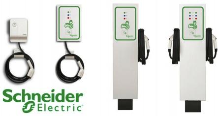 schneider electric bornes de recharge pour voitures lectriques. Black Bedroom Furniture Sets. Home Design Ideas