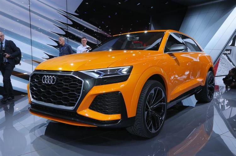 audi q8 sport r gime hybride minimum au salon de gen ve. Black Bedroom Furniture Sets. Home Design Ideas