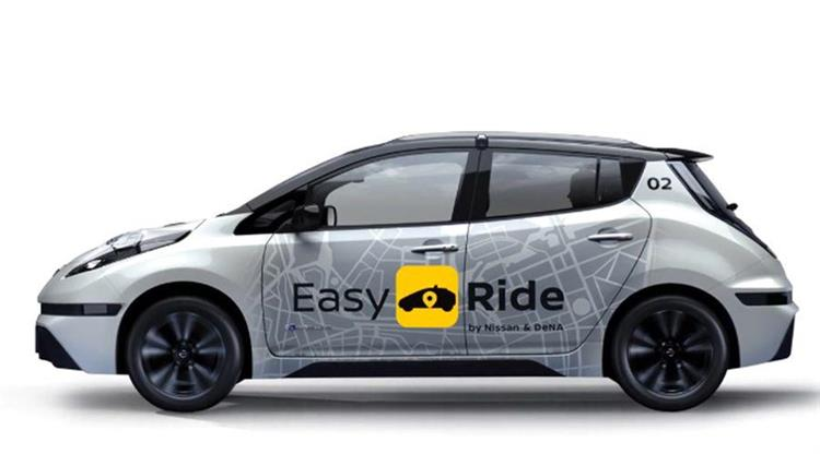 au japon la nissan leaf se transforme en robot taxi autonome. Black Bedroom Furniture Sets. Home Design Ideas