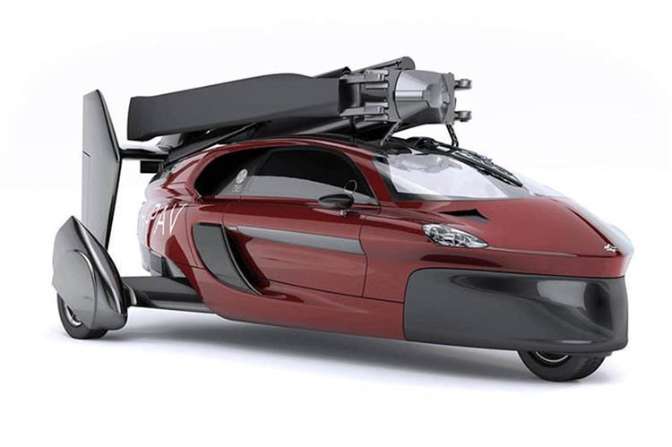 voiture volante pal v liberty fin pr te pour le salon de gen ve. Black Bedroom Furniture Sets. Home Design Ideas