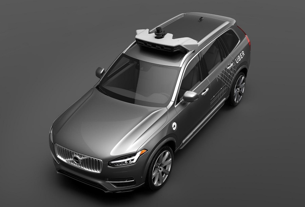 voiture autonome uber va tester des prototypes volvo aux usa. Black Bedroom Furniture Sets. Home Design Ideas
