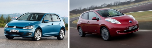 Nissan LEAF 2014 vs Volkswagen Golf 6 essence