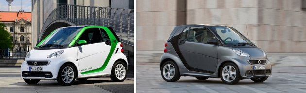 smart electric Drive vs smart essence